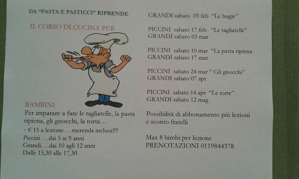 I corsi di cucina per bambini di pasta & pasticci druento to